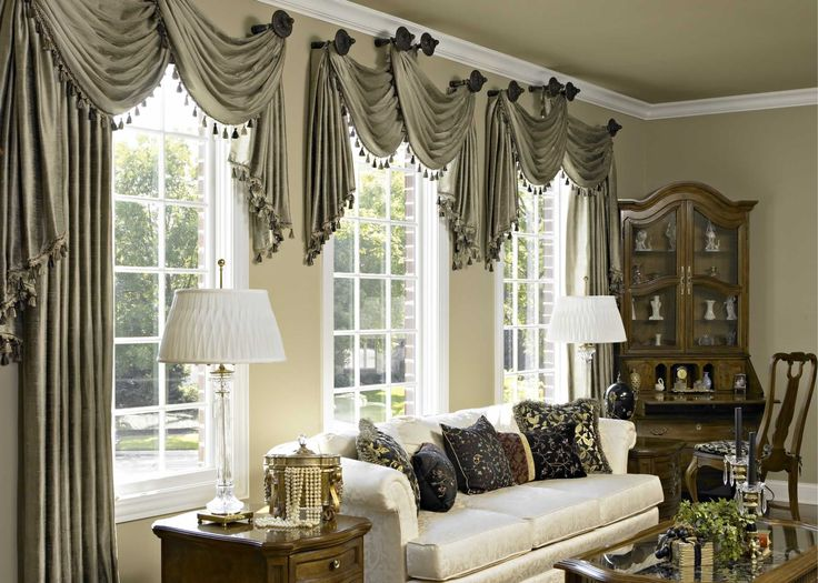 window-treatment-scarf-valance-ideas-Drapes-and-Curtains-for-Living-Room